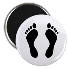 "footprints barefoot 2.25"" Magnet (10 pack)"