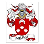 Galban Coat of Arms Small Poster