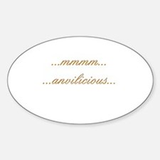 Anvilicious Oval Decal
