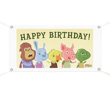 Jabloo Crew Birthday Party Banner
