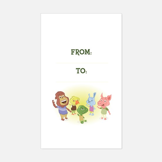Jabloo Crew Birthday Gift Tag Decal