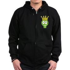 frog king crown Zip Hoodie