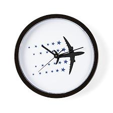 air plane stars Wall Clock