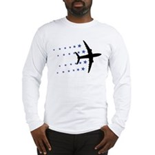 air plane stars Long Sleeve T-Shirt
