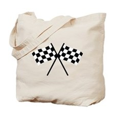 checker flag autorace Tote Bag