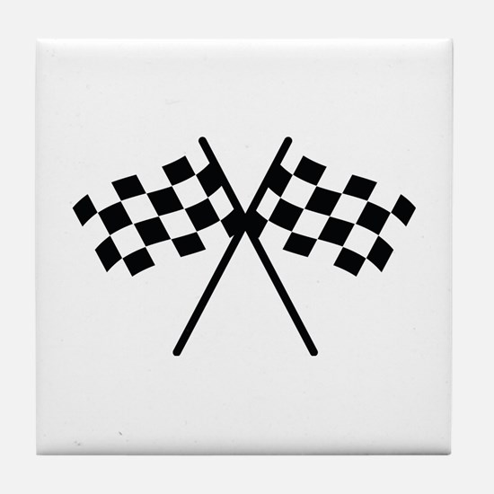 checker flag autorace Tile Coaster