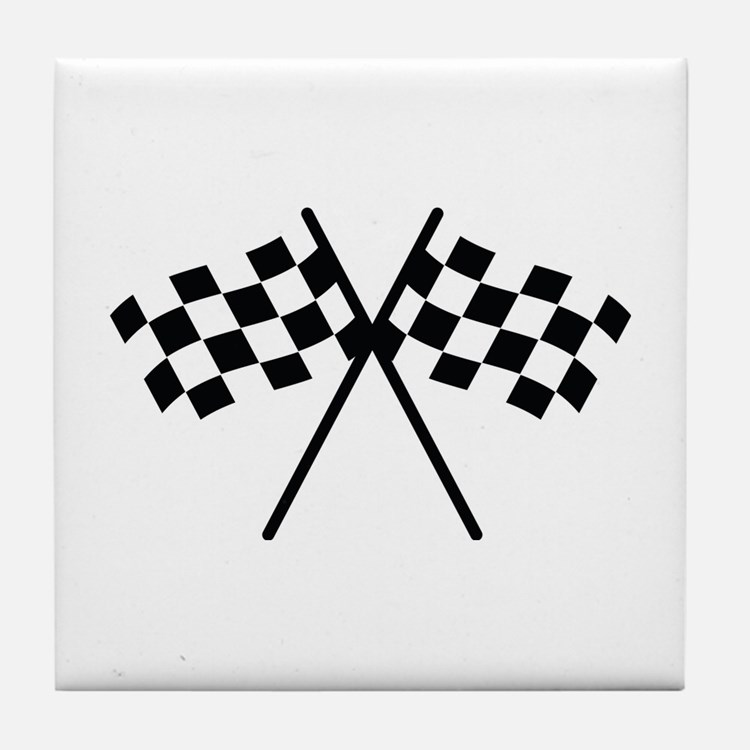 checker flag autorace Tile Coaster