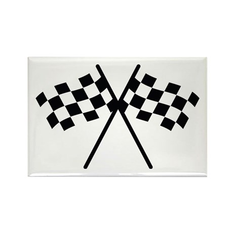 checker flag autorace Rectangle Magnet (100 pack)