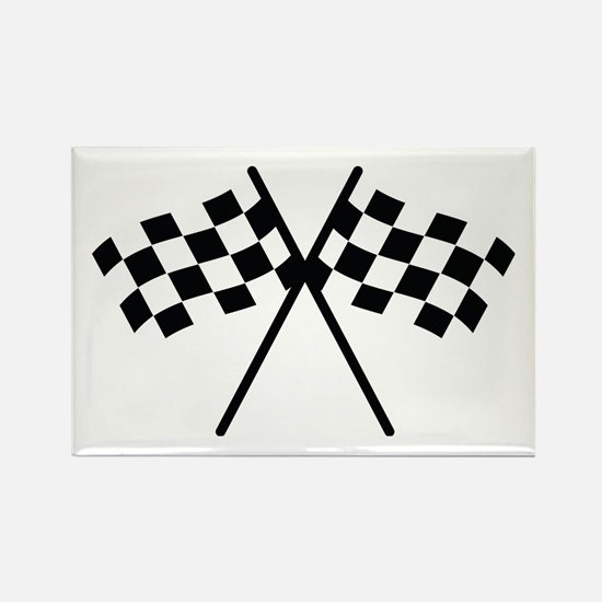 checker flag autorace Rectangle Magnet