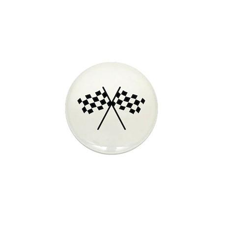 checker flag autorace Mini Button (100 pack)