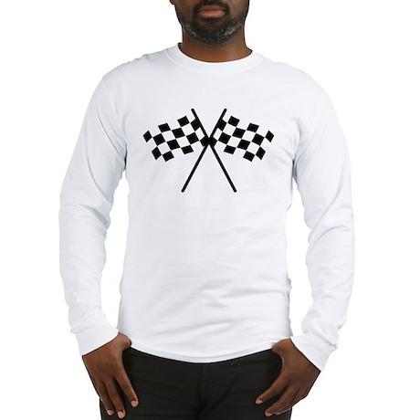 checker flag autorace Long Sleeve T-Shirt