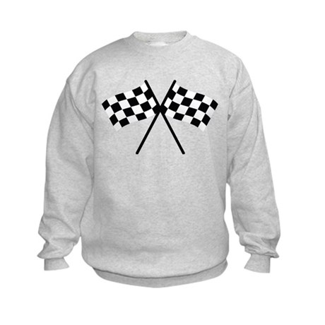 checker flag autorace Kids Sweatshirt