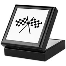 checker flag autorace Keepsake Box
