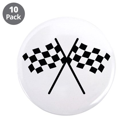 "checker flag autorace 3.5"" Button (10 pack)"