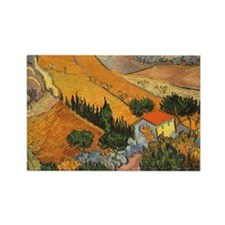 Van Gogh Valley Ploughman Rectangle Magnet (10 pac