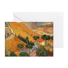 Van Gogh Valley Ploughman Greeting Cards (Pk of 20