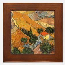 Van Gogh Valley Ploughman Framed Tile
