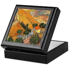 Van Gogh Valley Ploughman Keepsake Box