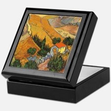 Van Gogh Valley Ploughman Keepsake Box