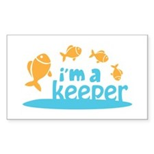 I'm a Keeper Rectangle Sticker 10 pk)