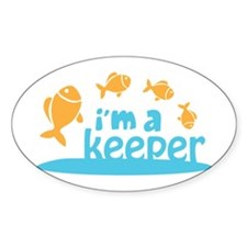I'm a Keeper Oval Decal