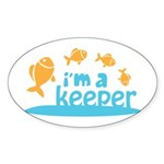 I'm a Keeper Oval Sticker (50 pk)