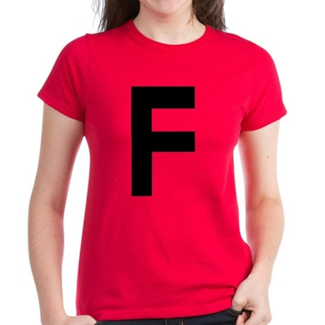 Letter F Women's Dark T-Shirt