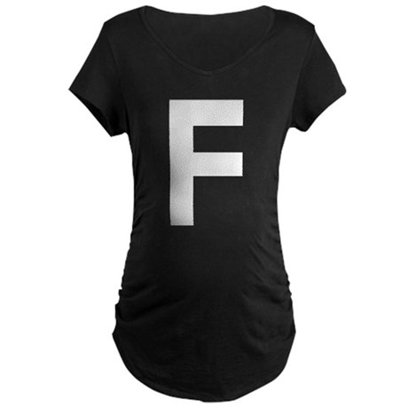 Letter F Maternity Dark T-Shirt