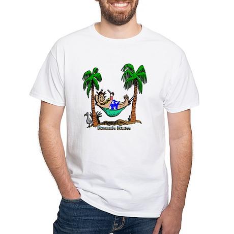 Beach Bum White T-Shirt