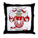 Galves Coat of Arms Throw Pillow