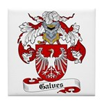 Galves Coat of Arms Tile Coaster