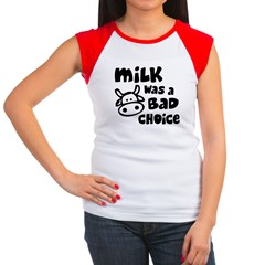 Milk Was A Bad Choice Women's Cap Sleeve T-Shirt
