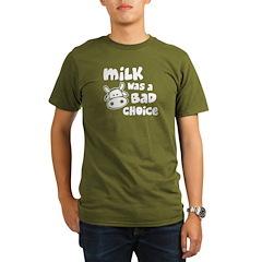 Milk Was A Bad Choice Organic Men's T-Shirt (dark)
