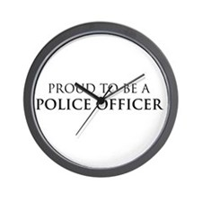 Proud Police Officer Wall Clock