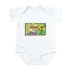Kansas Map Infant Bodysuit