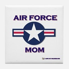 air force mom Tile Coaster