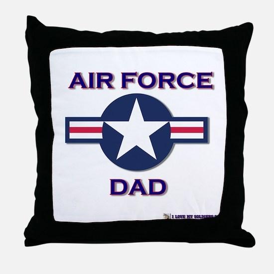 air force dad Throw Pillow