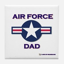 air force dad Tile Coaster