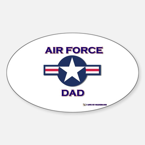 air force dad Oval Decal