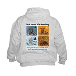 4 Seasons of Chained Dog Kids Hoodie