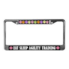Eat Sleep Agility Training License Frame