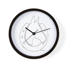 Mule Shoe Wall Clock