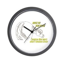 Talk To The Rear Wall Clock