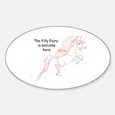 Filly Fairy Welcome Oval Decal