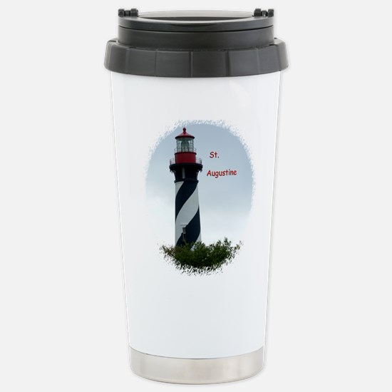 St Augustine Lighthouse Stainless Steel Travel Mug