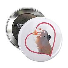 M Cockatoo Heart Line Button