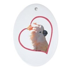 M Cockatoo Heart Line Oval Ornament