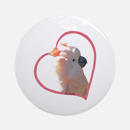 M Cockatoo Heart Line Ornament (Round)