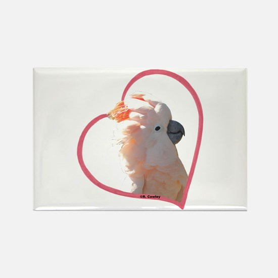 M Cockatoo Heart Line Rectangle Magnet