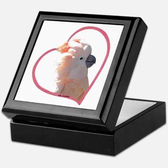 M Cockatoo Heart Line Keepsake Box